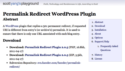 Permalink redirect wordpress plugin 2