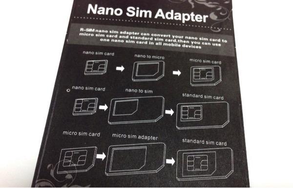 Sim adapter nano micro 3