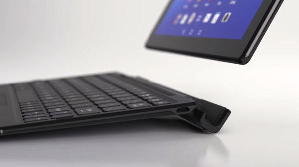 Sony xperia z4 tablet with keyboard cover 2