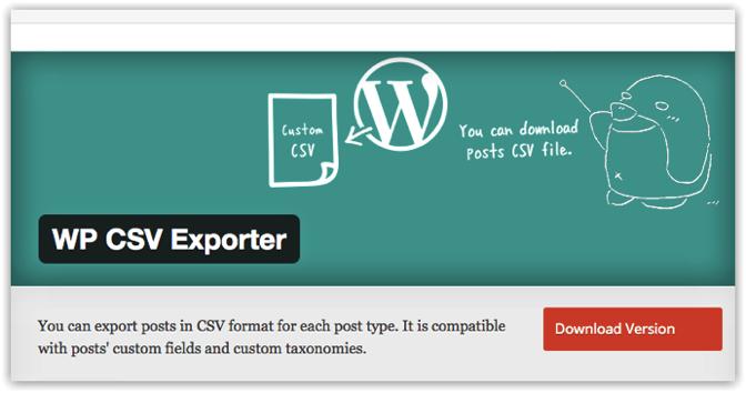 Wp csv exporter 1